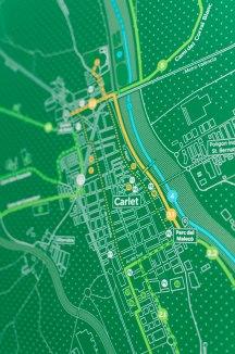 Detall plànol rutes